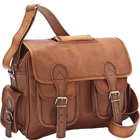 Sharo Leather Bags Satchel (Dark Brown)