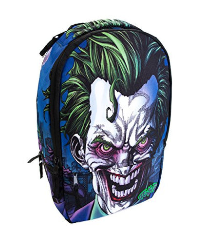 DC Comics Joker Molded Rubber fits Laptops up to 17in Backpack, Multi, One Size