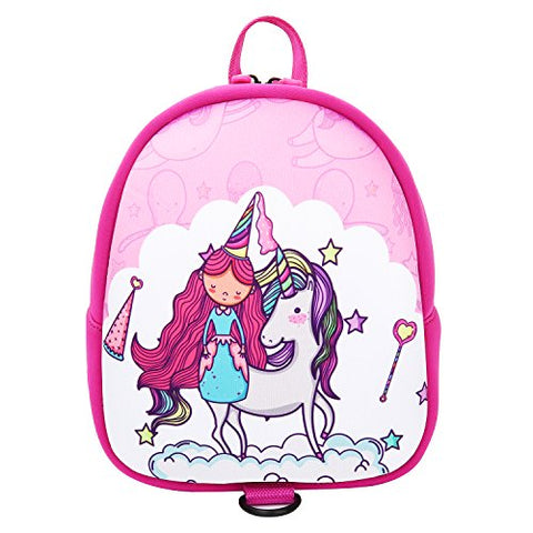 Insulated Toddler Backpack Neoprene Preschool Book Bag(Unicorn2,Small)