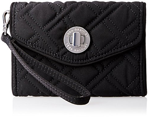 Vera Bradley Your Turn Smartphone Wristlet 2 Wallet, Classic Black, One Size