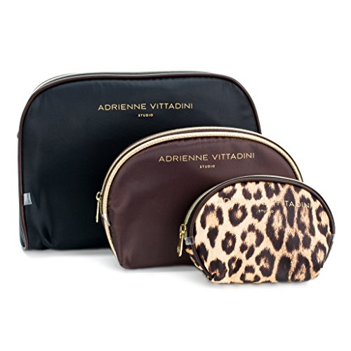 c7f4e1dba906 Adrienne Vittadini Cosmetic Makeup Bags: Compact Travel Toiletry Bag Set In  Small, Medium And Large