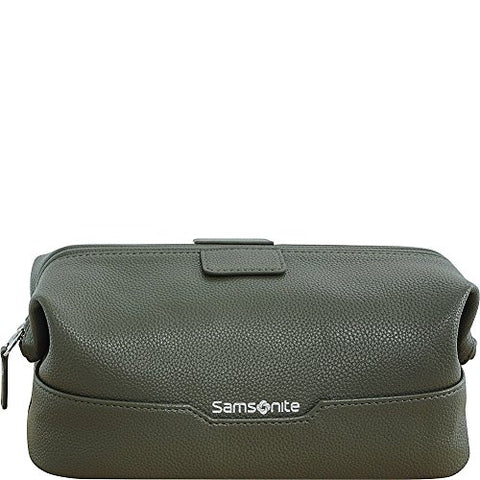 Samsonite- Leather Travel Accessories Dusk Framed Travel Kit (Olive)