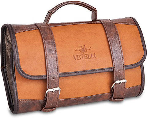 Vetelli Hanging Toiletry Bag For Men - Dopp Kit / Travel Accessories Bag / Great Gift