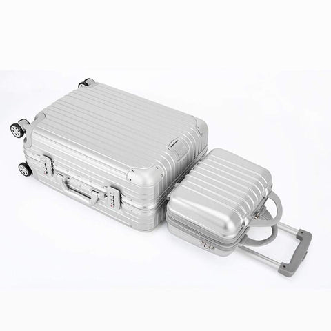 Boarding Suitcase, Trolley Case Universal Wheel Aluminum Frame Suitcase, Retro Luggage 20 Inch Boarding Case
