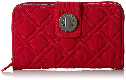 Rfid Turnlock Wallet - Vera Vera Wallet, Cardinal Red, One Size