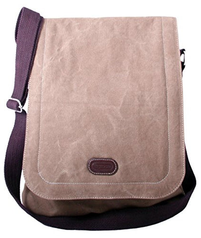 Leatherbay Urban Hipster Messenger Bag,Stone Olive,one size