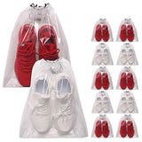 DIOMMELL Set of 12 Transparent Shoe Bags for Travel Large Clear Shoes Storage Organizers Pouch with Rope for Men and Women