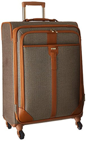Hartmann Herringbone Luxe Softside Medium Journey Expandable Spinner, Terracotta Herringbone, One