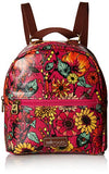 Sakroots Mini Crossbody Backpack, Raspberry in Bloom , One Size