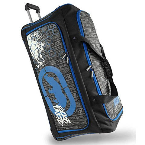 "Ecko Unltd. Men'S Tagger Large 32"" Bag Rolling Duffel, Black/Blue, One Size"