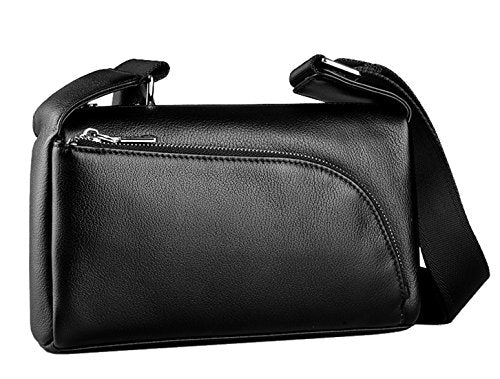 SAIERLONG New Mens Black Genuine Leather Briefcase Messenger Bags Business Handbags