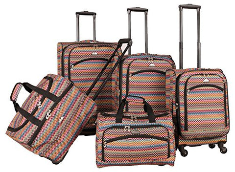 American Flyer Gold Coast 5-Piece Spinner Luggage Set, Pink, One Size