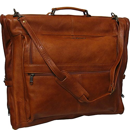 Amerileather Leather Three-Suit Garment Bag,Brown,Us