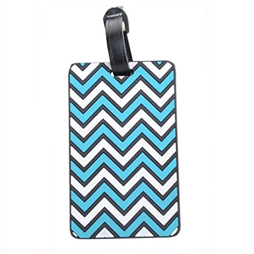 AutumnFall New Suitcase Luggage Tags ID Address Holder Silicone Identifier Label (Sky Blue)