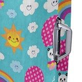 "Suitcase Cover Suitcase Ice Cream Rainbow Cloud Emoji Emotion Luggage Cover Travel Case Bag Protector for Kid Girls Luggage Cover Travel Case Bag Protector for Kid Girls 26""-28""(ONLY COVER)"