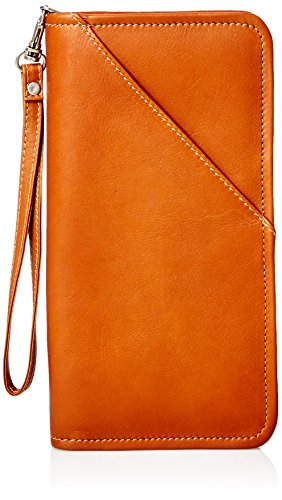 Piel Leather Executive Travel Wallet, Saddle