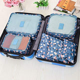 Travel Packing Cubes 6pcs/set Large Capacity Clothing Sorting Organize Bag Storage Package Men,Leopard