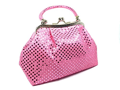 Handbag FabCloud Eve metallic pink dot by WiseGloves clutch purse pocket cosmetic make up pouch bag handbag accessory