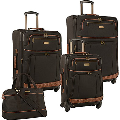 Tommy Bahama Mojito Four Piece Luggage Set, Dark Brown