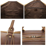 "Polare 23"" Classic Full Grain Leather Weekender Travel Overnight Luggage Duffel Bag"