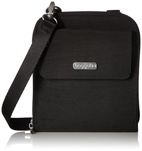 Baggallini Travel Passport Crossbody, Black