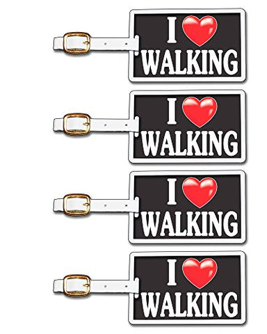 Tag Crazy I Heart Walking Four Pack, Black/White/Red, One Size