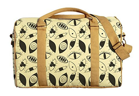 Eyes Abstract Pattern Printed Canvas Duffle Luggage Travel Bag Was_42