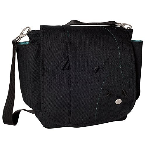 Haiku Women's To Go Convertible Messenger Crossbody Handbag, Black Juniper