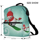 ColourLife Snowman Snowboarding Stylish Casual Shoulder Backpacks Laptop School Bags Travel Multipurpose Daypack for Women Girls Kids