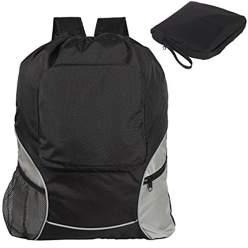 Shop Teamoy Foldable Sackcpack Drawstring Backpack Gym Bag With ... f23795e09df8a