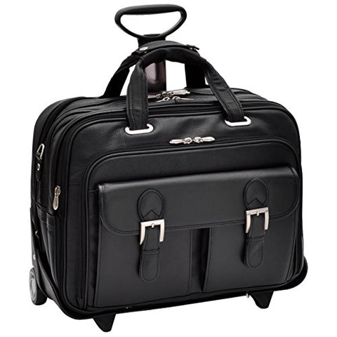 "Siamod Ceresola 46005 Black Checkpoint-Friendly 15.6"" Detachable-Wheeled Laptop Case"