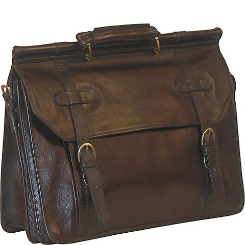 Scully Hand Stained Calf Leather Overnight Workbag (Brown)