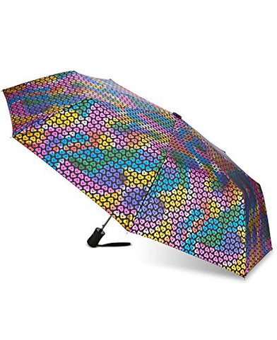 Betsey Johnson Multicolor Hearts Foil-Print Umbrella