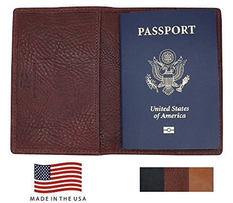 Brown Arizona Genuine Leather Passport Holder – American Factory Direct Passport Case For Men Women