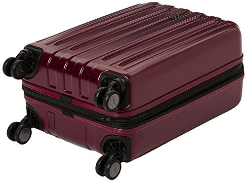 DELSEY Paris Titanium Soft Expandable 21 Inch Spinner Black Cherry Red
