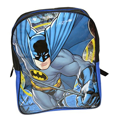 Warner Brothers Boys' Batman Backpack Good Comfort, black/Blue