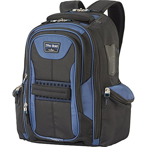 Travelpro Tpro Bold 2.0 Computer Backpack, Black/Navy, One Size