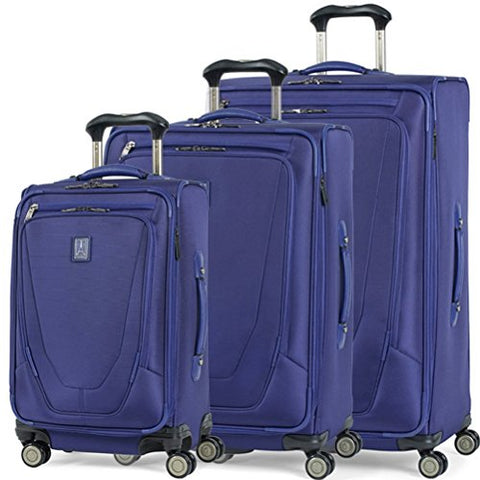 Travelpro Crew 11 3 Piece Set 21 |25 |29 Expandable Spinner Suiter Indigo