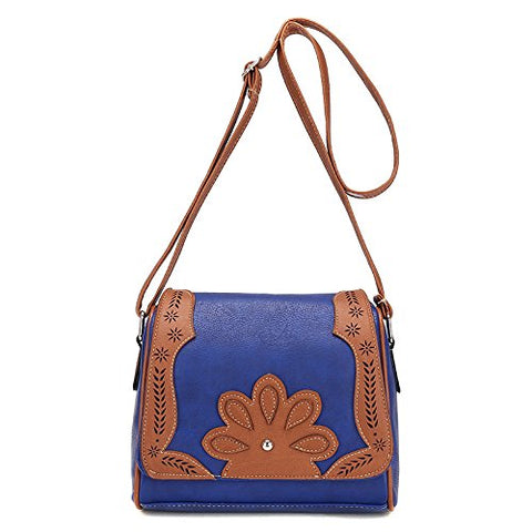 BIBITIME Hollow Leaf Crossbody Bag School Vintage Flower Messenger Shoulder Bag Travel Bag for