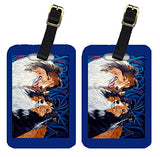 Caroline's Treasures 7508BT Pair of 2 Sheltie Luggage Tags, Large, multicolor