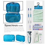 Coolife Packing Cubes Travel Organizers with Laundry Bag 7 Set Hanging Toiletry Bag Portable (blue)