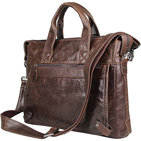 Leather Laptop Crossbody Shoulder Bag For Men Handbag Berchirly Business Computer Briefcase
