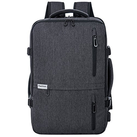 Travel Laptop Backpack 35L Flight Approved Carry On Weekender Bag Backpack Expandable With Usb
