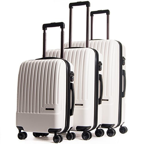 CALPAK Davis Expandable Luggage Set, Ivory