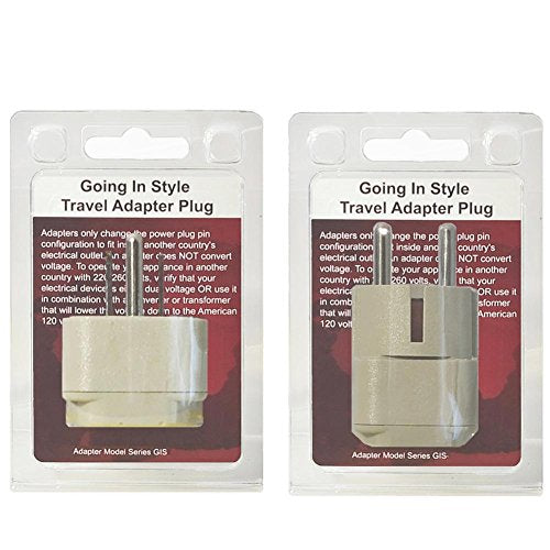 Going In Style Korea (North and South) Grounded Adapter Plug Kit - GUA and GUB
