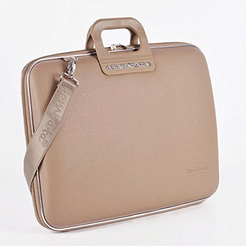Bombata Bag Firenze Briefcase for 17 Inch Laptop - Taupe