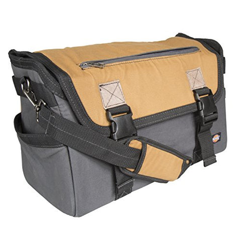 Dickies Work Gear 57034 Grey/Tan 16-Inch Messenger Bag