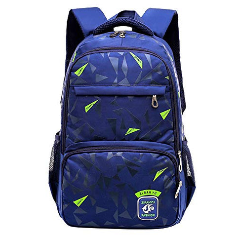 Fanci Geomatric Triangle Prints Waterproof Primary Middle School Backpack Bookbag for Elementary