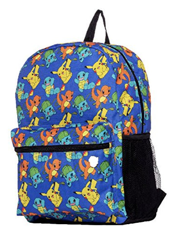 "Pokemon Large 17"" All Over Print Front Pocket Backpack"