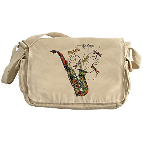Cafepress - Wild Saxophone - Unique Messenger Bag, Canvas Courier Bag